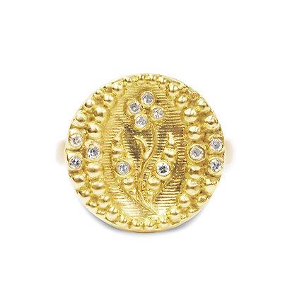 18k Posey Ring