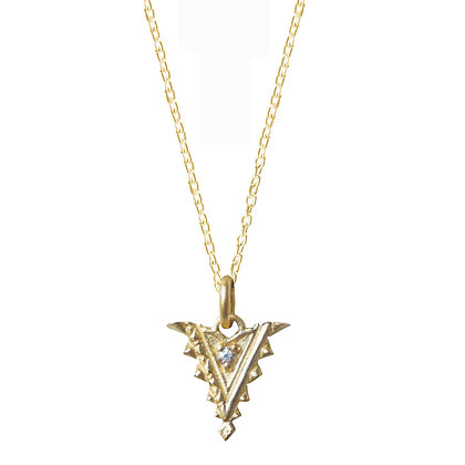 Small Diamond Arrow Pendant