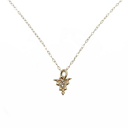 Tiny Diamond Arrow pendant