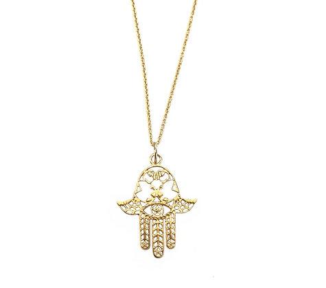 14k gold Hamsa pendant