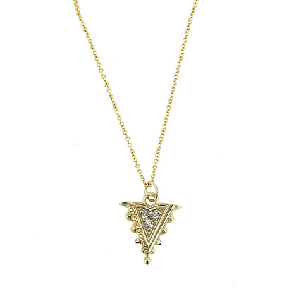 Medium Diamond Arrow Pendant
