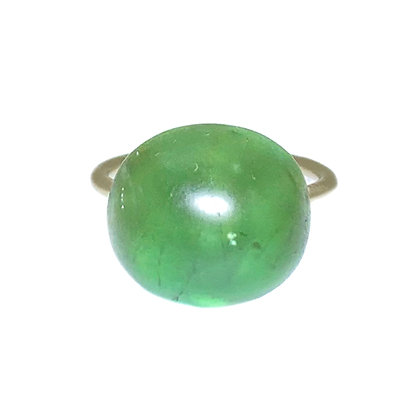 Green Tourmaline Rivet Ring