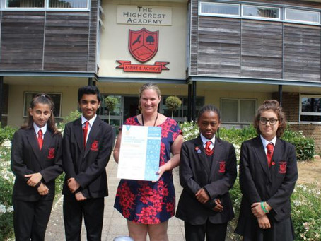 Highcrest Academy, in High Wycombe 'first in Bucks' to win Unicef gold