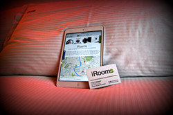 iPad in room with free wifi