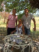 Mit Sabina und Michele
