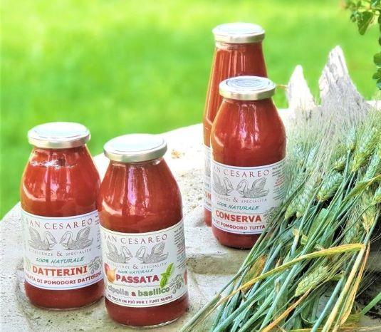 Passata aus säurearmen Tomaten und Datteltomaten