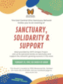 Sanctuary, Solidarity and Support Flyer.