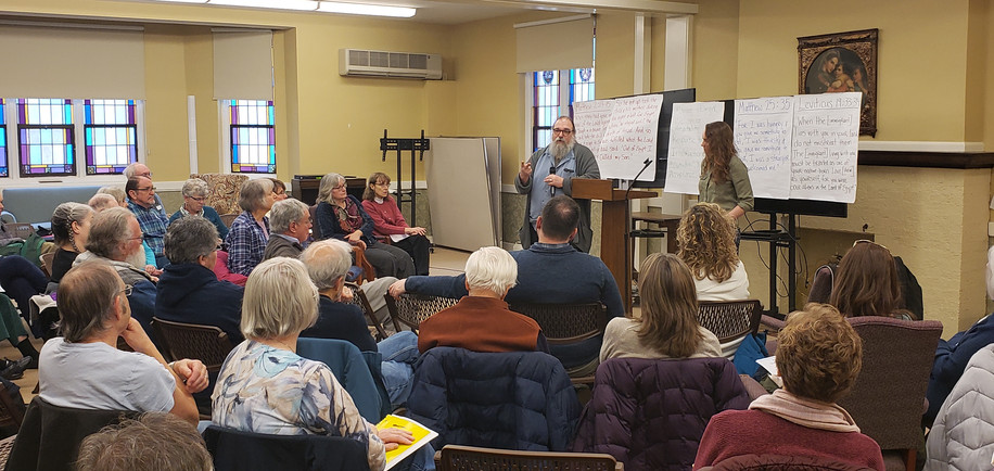 """""""I Was A Stranger and You Welcomed Me"""" - Walking with Immigrants in Wayne County  Saturday, March 2nd, at First Presbyterian Church  Organized by: the Interfaith Justice Committee, in partnership with ECOSN &  Immigrant Worker Project (IWP)"""