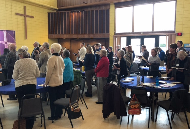 Immigration Solidarity Service + Lunch and Learn  On Sunday, March 31st, Westminster Presbyterian Church and the Wooster Friends Meeting (Quakers) held a joint worship service in support of immigrants in the Wayne County area, blending Presbyterian and Quaker styles of worship.