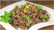 Quinoa with mushroom and garlic.JPG