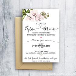 White Orchid Invitation