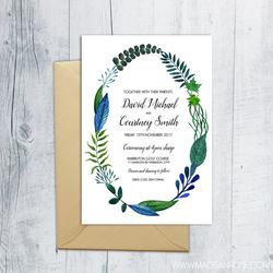 Leaf Wreath Invitation