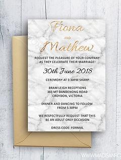 Marle andGold Weding Invitation