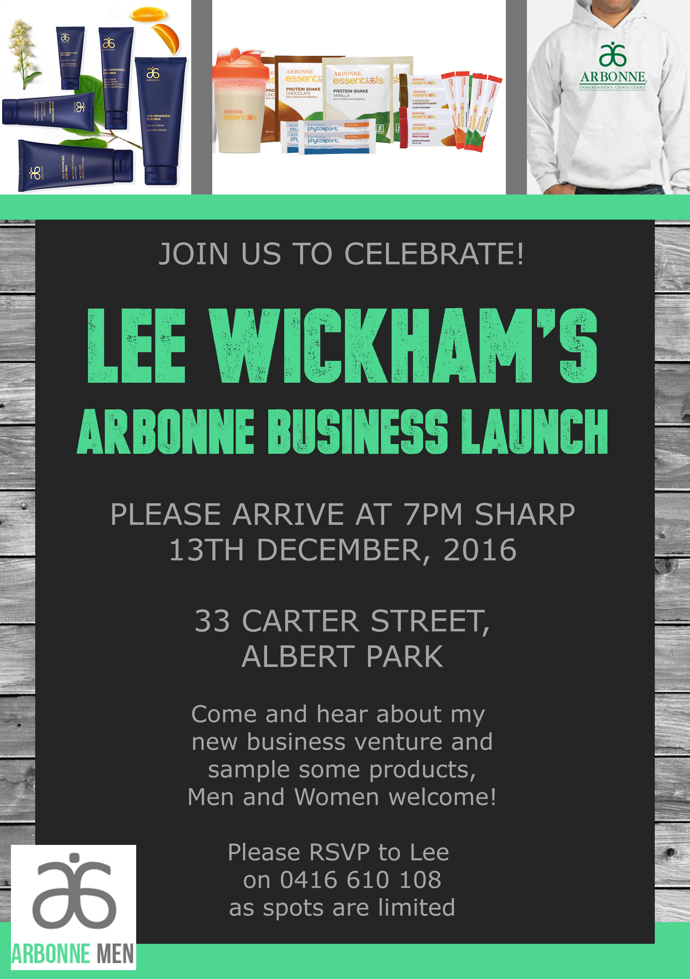 Arbonne Business Launch Flyer