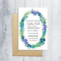 Garden Wreath Invitation