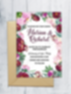 Floral Weding Invitation