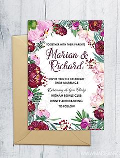 Floral Weding Invitation