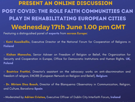 Post COVID: The Role Faith Communities can play in rehabilitating European Cities