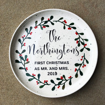 First Christmas as Mr. and Mrs. plate