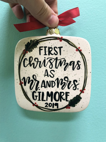 1st Christmas as Mr. and Mrs. ornament