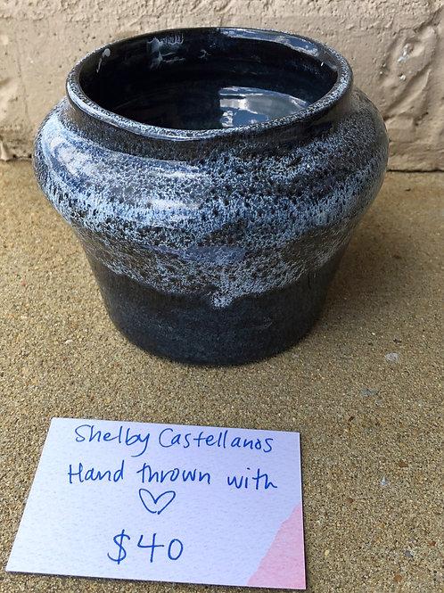Hand-Thrown Pot - Gentian