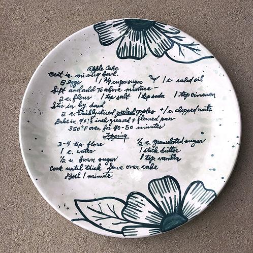 Custom Hand Written Recipe Plate