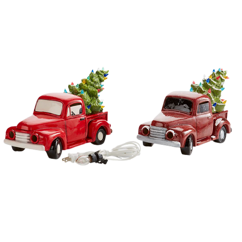 PRE-ORDER - Light-up Truck with Tree