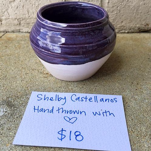 Hand-Thrown Pot - Lilac
