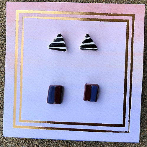 Handmade Clay Earring Set - Tara