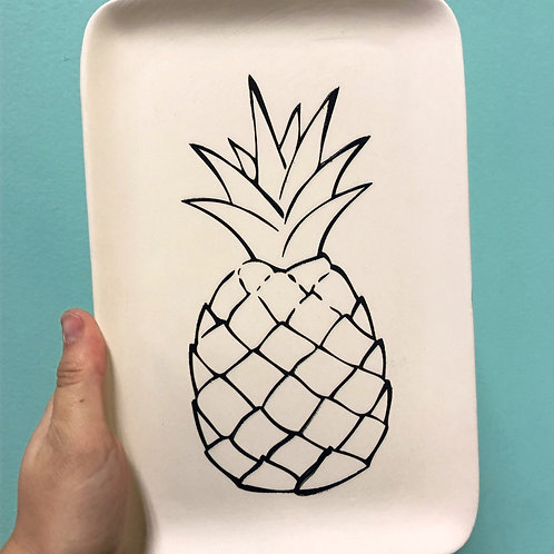 Color-in Pineapple Plate Take Home Kit