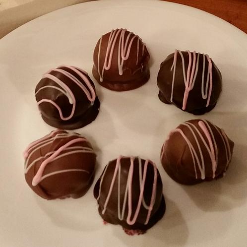 Raspberry Coconut Bonbons