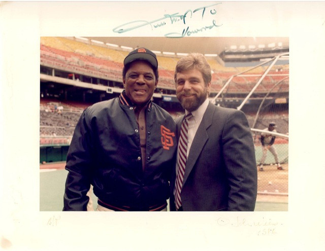 Howard and Willie Mays