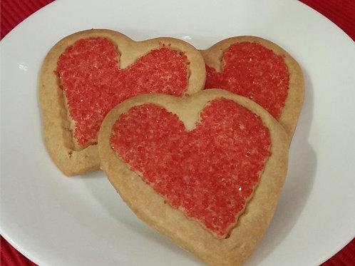 Shortbread Valentine Hearts
