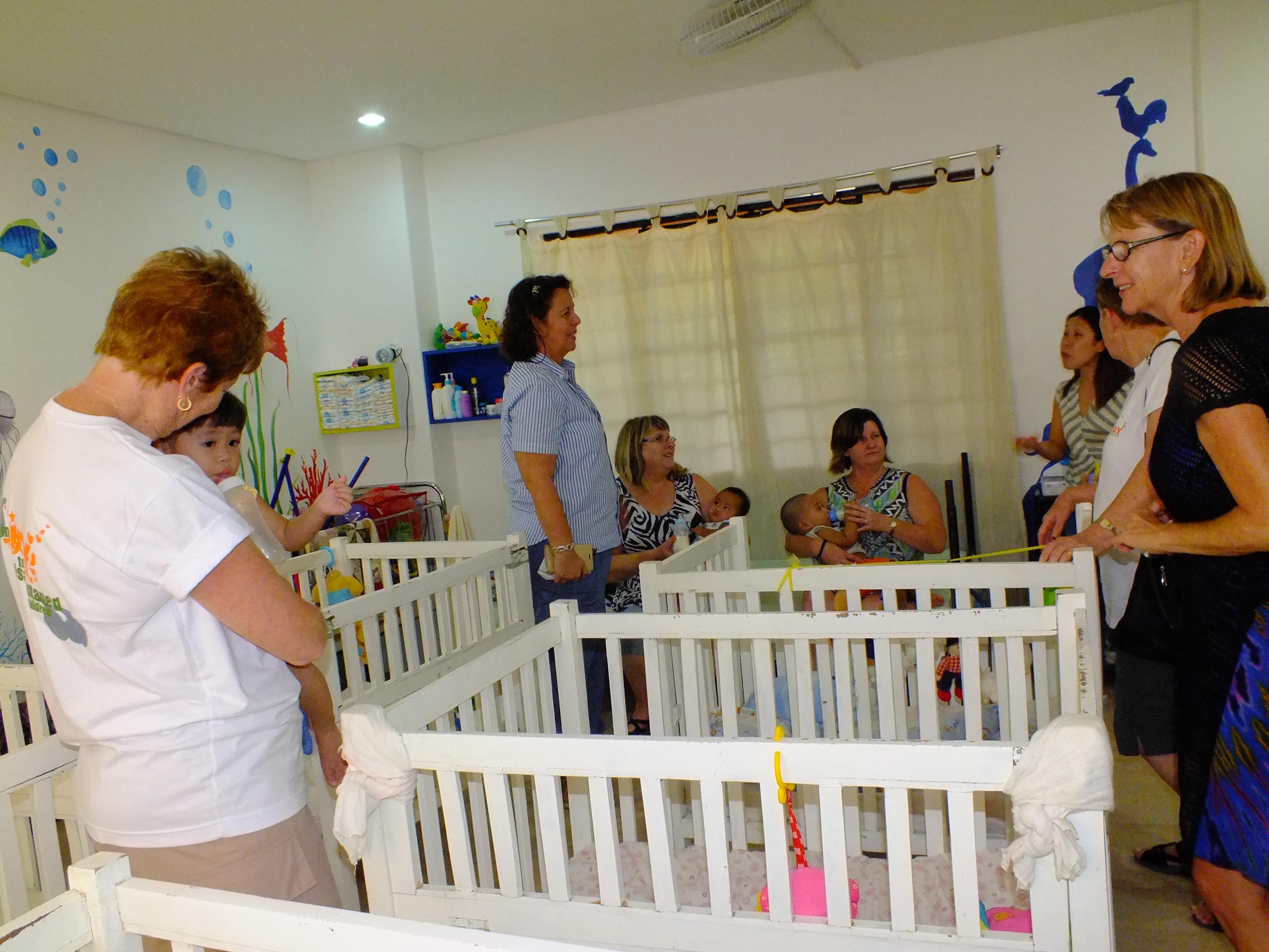 Volunteers @ baby orphanage