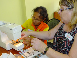 Volunteer educator in action