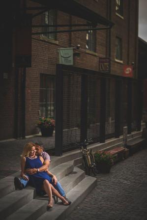 Distillery District - Engagement shoot.j