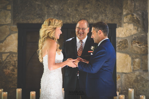 Exchanging vows at the Ancaster Mill