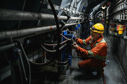ship mechanic at work