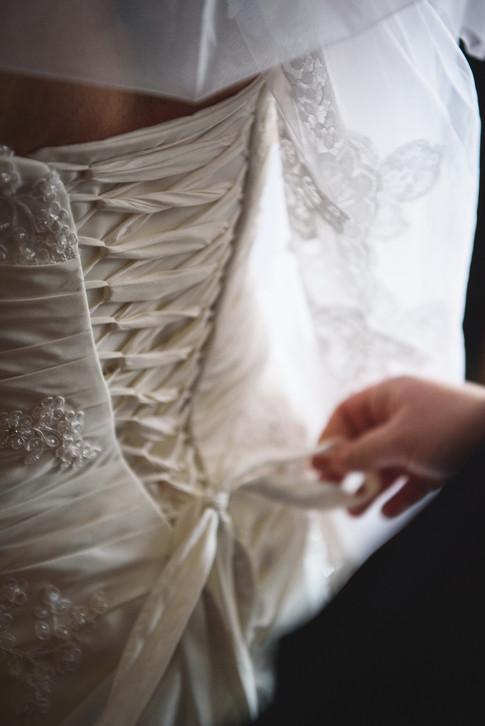 Wedding dress - getting ready
