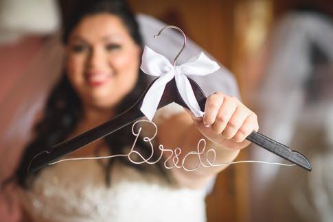 """Custom """"Bride"""" hanger"""