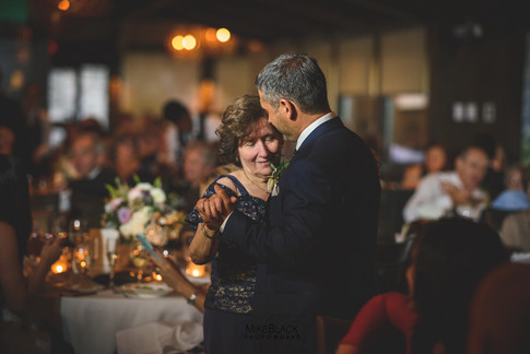 Groom and mother atWedding at the Ancaster Mill
