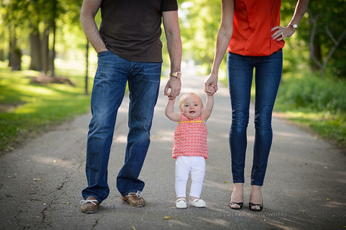 mom, dad, and first child
