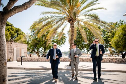 Dave  & groomsmen -  Santa Ponça beach