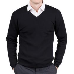 Mens Merino Pullover black