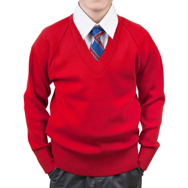 School Jumper boys red