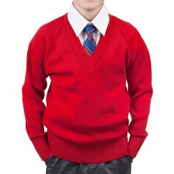 School Jumper boys red