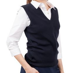Womens Merino Wool Vest Navy