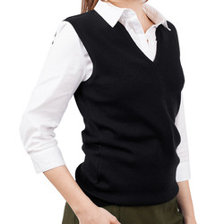 Womens Merino Wool Vest Black