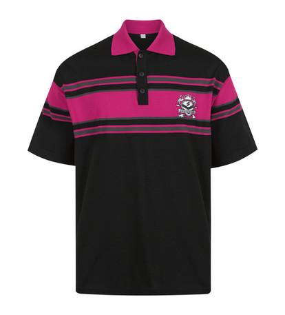 Custom striped polo shirt