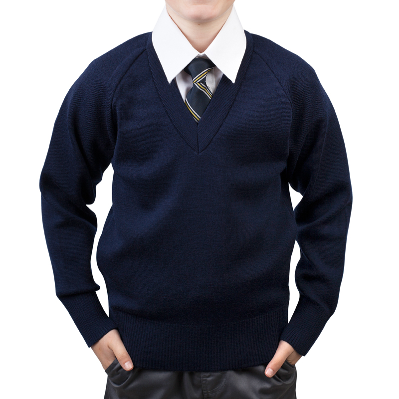 School Jumper boys navy